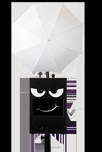 Facebox mit lächelndem Gesicht